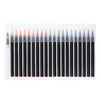 20Pcs Writing Brush Calligraphy Cartoon Pen Color Soft Stationery Water Ink Set