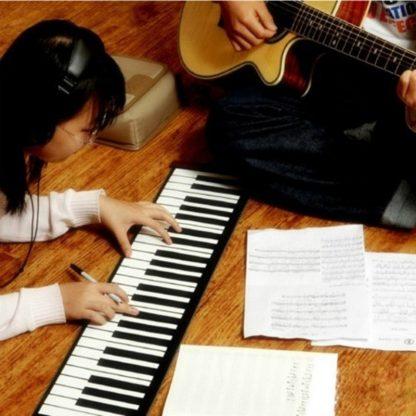 49 Key Portable Flexible Digital Keyboard Piano 10 Rhythms Electronic Roll Up Piano Children Toys Built-in Speaker 3