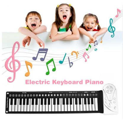 Portable Flexible Digital Keyboard Piano 49 Keys Flexible Silicone Electronic Roll Up Piano Children Toys Built-in Speaker 1
