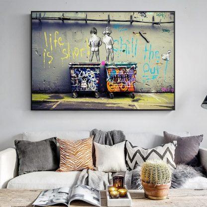 Banksy Graffiti Art Abstract Canvas Painting Posters and Prints  1