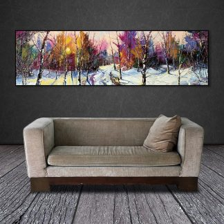 wall picture art landcape art print trees Posters picture wall art Painting decoration for living room no frame canvas painting