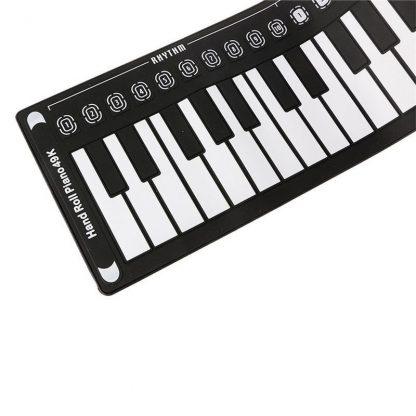 49 Key Portable Flexible Digital Keyboard Piano 10 Rhythms Electronic Roll Up Piano Children Toys Built-in Speaker 4