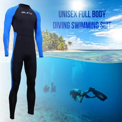 SLINX Unisex Full Body Diving Suit Men Women Scuba Diving Wetsuit Swimming Surfing UV Protection Snorkeling Spearfishing Wetsuit 2