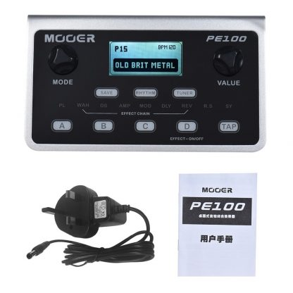 MOOER PE100 Multi-effects Processor Guitar Effect Pedal 39 Effects Guitar Pedal 40 Drum Patterns 10 Metronomes Tap Tempo 1