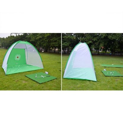 Foldable Outdoor Indoor Golf Net Cage Golf Hitting Net Pop Up Driving Chipping Practice Net Training Aid 3
