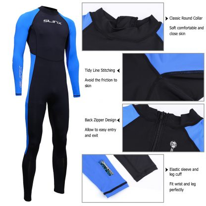 SLINX Unisex Full Body Diving Suit Men Women Scuba Diving Wetsuit Swimming Surfing UV Protection Snorkeling Spearfishing Wetsuit 3