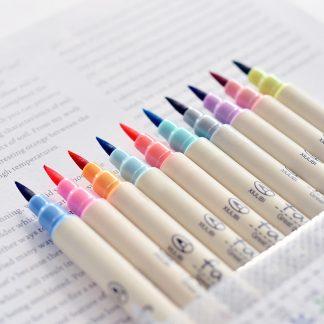 10Colors/set art Marker Pen calligraphy drawing Scrapbooking Crafts Soft Brush Pen Art Marker Pen For Stationery School Supplies