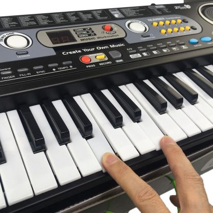 54 Keys Digital Electronic Electric Piano With Keyboard & Microphone Electric Led Adult Size EU Plug US Plug Toy For Kids Gifts 2