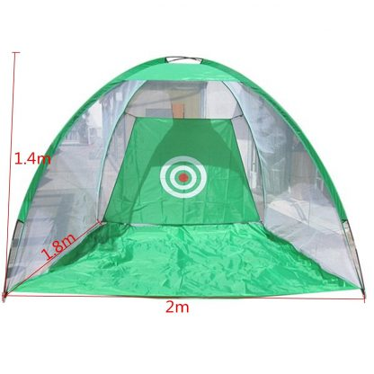 2x1.4m Foldable Golf Hitting Cage Practice Net Trainer+raining Aid Mat+Driver Iron Green Portable Durable Polyester+Oxford Cloth 3