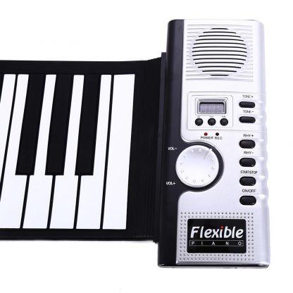 Portable Flexible 61 Keys Silicone MIDI Digital Roll-Up Keyboard Piano Foldable Diatonic Electronic Roll Up Piano 5