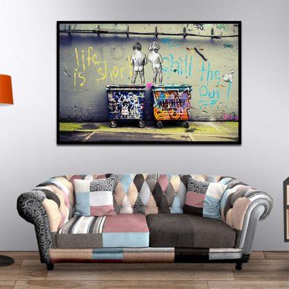 Banksy Graffiti Art Abstract Canvas Painting Posters and Prints  3
