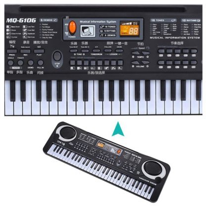 HOT Sale 61 Key Digital Electronic Piano Keyboard With Microphone Musical Instrument Gift For Children EU Plug  4