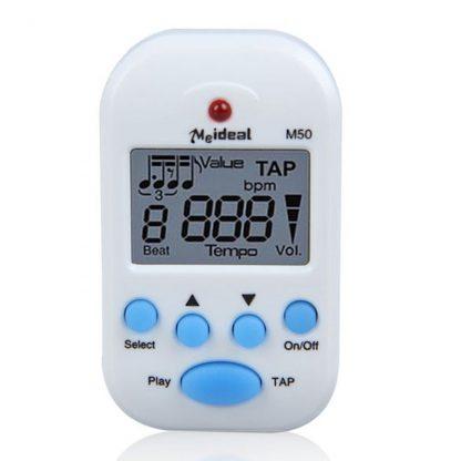 Mini Professional Metronome M50 Digital LCD Clip-on Digital Tuner Metronomfor Guitar Piano White Guitar Mini Metronomo,4 Colors 4