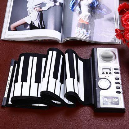 Portable Flexible 61 Keys Silicone MIDI Digital Roll-Up Keyboard Piano Foldable Diatonic Electronic Roll Up Piano