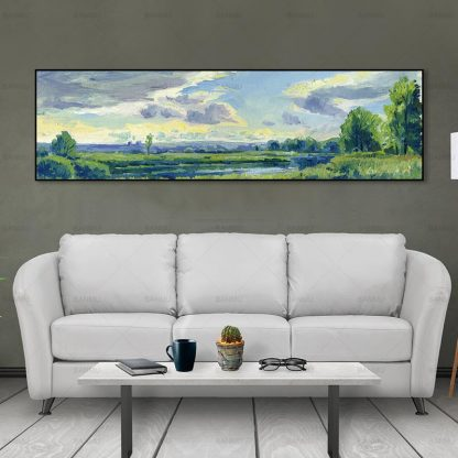 wall picture art landcape art print trees Posters picture wall art Painting decoration for living room no frame canvas painting 3