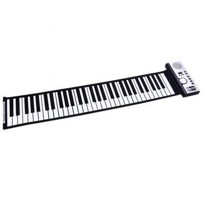 Portable Flexible 61 Keys Silicone MIDI Digital Roll-Up Keyboard Piano Foldable Diatonic Electronic Roll Up Piano 4
