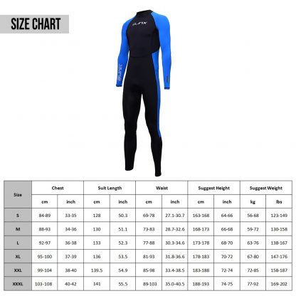 SLINX Unisex Full Body Diving Suit Men Women Scuba Diving Wetsuit Swimming Surfing UV Protection Snorkeling Spearfishing Wetsuit 5