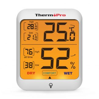 Thermopro TP53 Digital  Indoor Thermometers & Hygrometers Weather Station Room Thermometer with Touch Back light