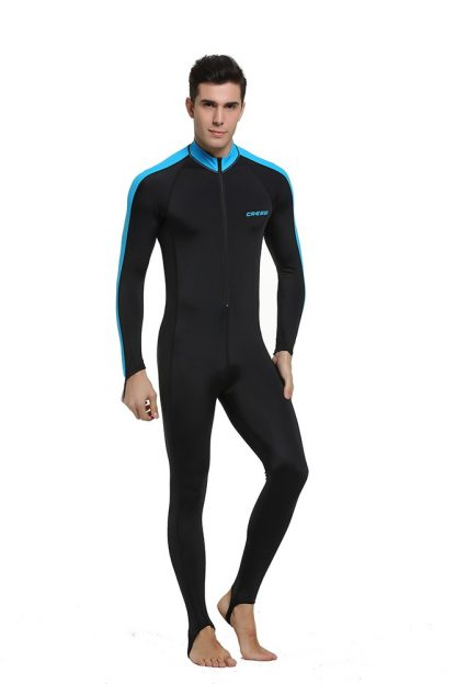 Cressi Lycra All-In-One Rash Skin Suit Rash Guard Suit Wetsuits Snorkeling Suit Anti-Jellyfish Anti Scratch for Adults Men W 4