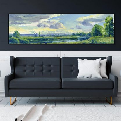 wall picture art landcape art print trees Posters picture wall art Painting decoration for living room no frame canvas painting 4