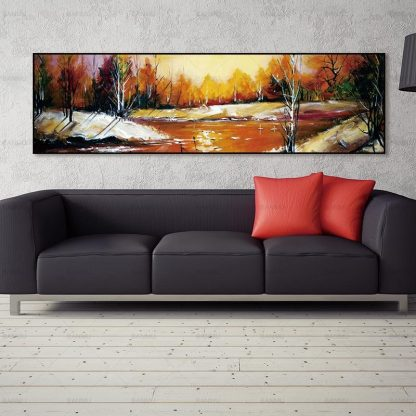 wall picture art landcape art print trees Posters picture wall art Painting decoration for living room no frame canvas painting 5