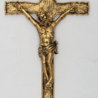 Catholic 8.5 Inch Resin Jesus Christ on INRI Cross Wall Crucifix Antique Finish Gold Silve Home Chapel Decoration Free shipment