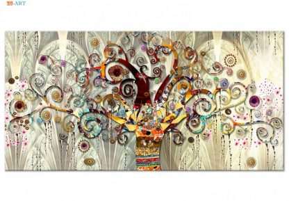 Vintage Poster Tree of Life Print Abstract Canvas Painting Gold Wall Art Pictures for Living Room Tribe Wall Decor 2
