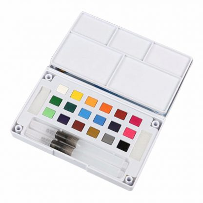 18/24/36 Solid Watercolor Art Paint Pigment Set Portable Painting Drawing Kit 2
