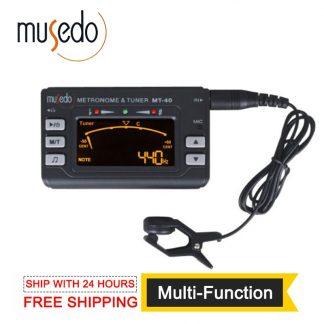 Musedo MT-40 Guitar Tuner Electronic Digital 3 in 1 LCD Guitar/bass/violin/ukulele Tuner Metronome Tone Generator Tuner Clip