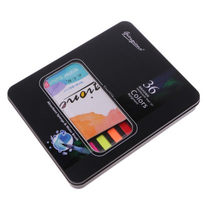 36 Colors Solid Watercolor Artist Paint Set Painting Box with Pens Paper And Bag Artist Art Supplies 3