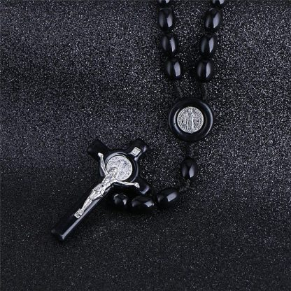 Komi Rosary Beads JESUS Coin Cross Pendant Necklace for Women Girls Catholic Religious Jewelry Holy Rosaries Necklaces 2