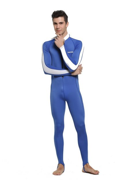 Cressi Lycra All-In-One Rash Skin Suit Rash Guard Suit Wetsuits Snorkeling Suit Anti-Jellyfish Anti Scratch for Adults Men W 3
