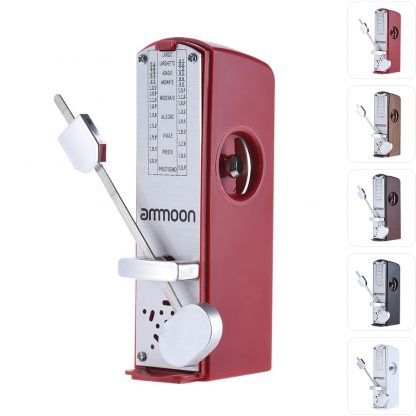 ammoon Portable Mini Mechanical Metronome Universal Metronome 11cm Height for Piano Guitar  Chinese Zither Music Instrument 1