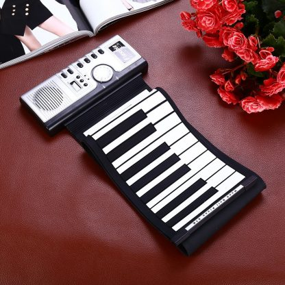 Portable Flexible 61 Keys Silicone MIDI Digital Roll-Up Keyboard Piano Foldable Diatonic Electronic Roll Up Piano 1