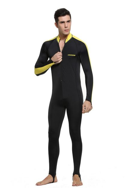 Cressi Lycra All-In-One Rash Skin Suit Rash Guard Suit Wetsuits Snorkeling Suit Anti-Jellyfish Anti Scratch for Adults Men W 5
