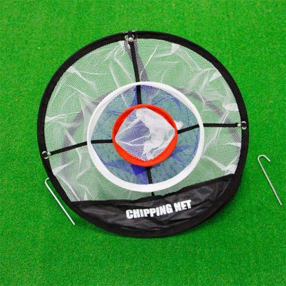 PGM Golf Pop UP Indoor Outdoor Chipping Pitching Cages Mats Practice Easy Net Golf Training Aids Metal + Net  5