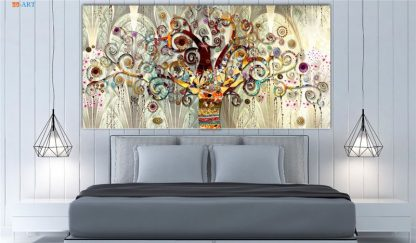 Vintage Poster Tree of Life Print Abstract Canvas Painting Gold Wall Art Pictures for Living Room Tribe Wall Decor 1