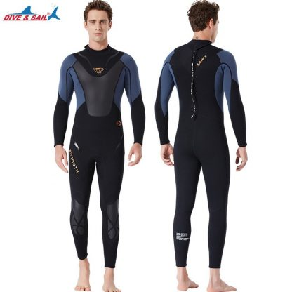Full-body Men 3mm Neoprene Wetsuit Surfing Swimming Diving Suit Triathlon Wet Suit for Cold Water Scuba Snorkeling Spearfishing 2