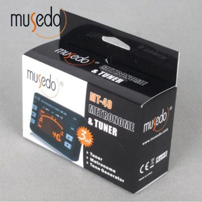 Musedo MT-40 Guitar Tuner Electronic Digital 3 in 1 LCD Guitar/bass/violin/ukulele Tuner Metronome Tone Generator Tuner Clip 5