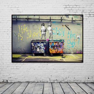Banksy Graffiti Art Abstract Canvas Painting Posters and Prints