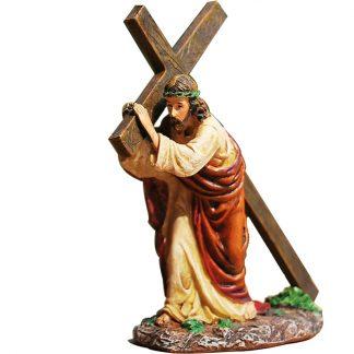 Resin Cross Crucifix Jesus Statue Figurine Christian Automobiles Decoration Furnishing Accessories Gift