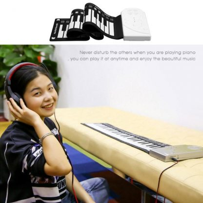 Portable Flexible Digital Keyboard Piano 49 Keys Flexible Silicone Electronic Roll Up Piano Children Toys Built-in Speaker 3