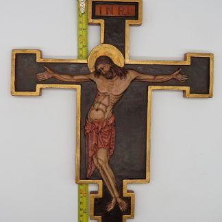 Catholic Resin Jesus Christ on INRI Cross Wall Crucifix Home Chapel Decoration 14.5 Inches