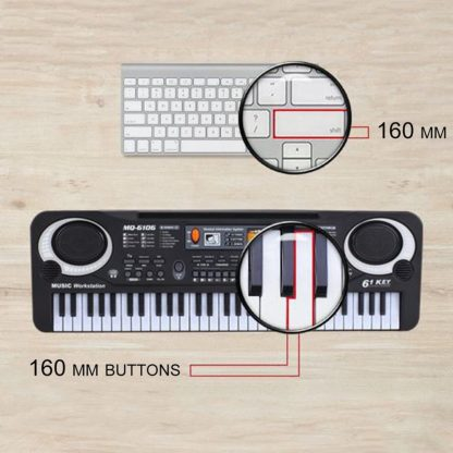 HOT Sale 61 Key Digital Electronic Piano Keyboard With Microphone Musical Instrument Gift For Children EU Plug  1