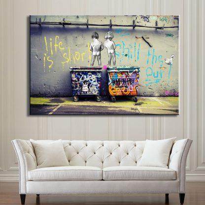 Banksy Graffiti Art Abstract Canvas Painting Posters and Prints  2