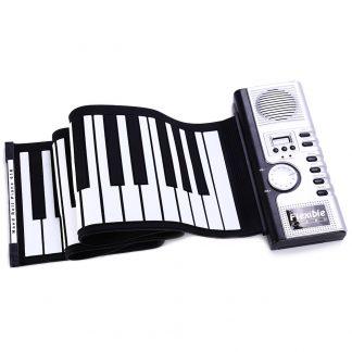 Portable Roll-Up 61 MIDI Soft Silicone Keys Flexible Electronic Piano Music Keyboard