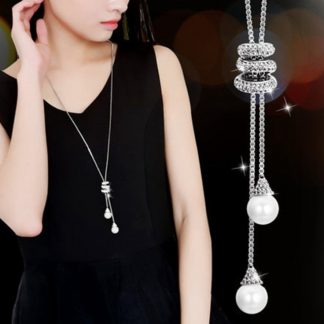 New sector Original Crystals from Austrian Choker clothes tassel Necklaces 925 Jewelry For Women Christmas Party