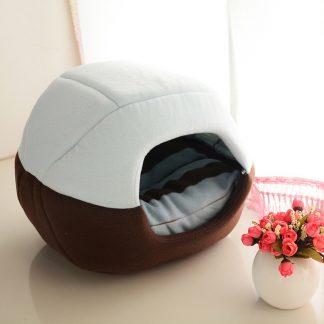 반려동물 접이식 2가지 용도 침대 쿠션  Uses Foldable Soft Warm Pet Cat Bed Dog Bed For Dogs Cave Puppy Sleeping Mat Pad Nest Blanket Pet Beds For Cats Bed House Cat