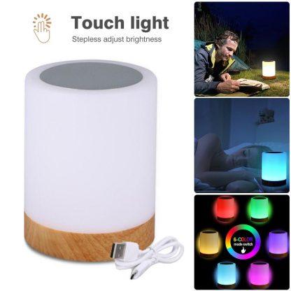침실 수면등 스마트 터치 램프KAIGELIN 6 Colors Light-adjustable LED Colorful Rechargeble Little Nightlight Table Bedside Nursing Lamp Breathing Touch light 2