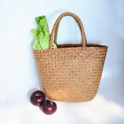 Casual Straw Bag Natural Wicker Tote Bags Women Braided Handbag For Garden Handmade Mini Woven Rattan Bags 1